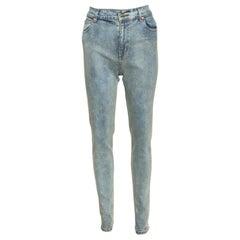 Gucci Dirty Indigo Denim Slim Fit Jeans M