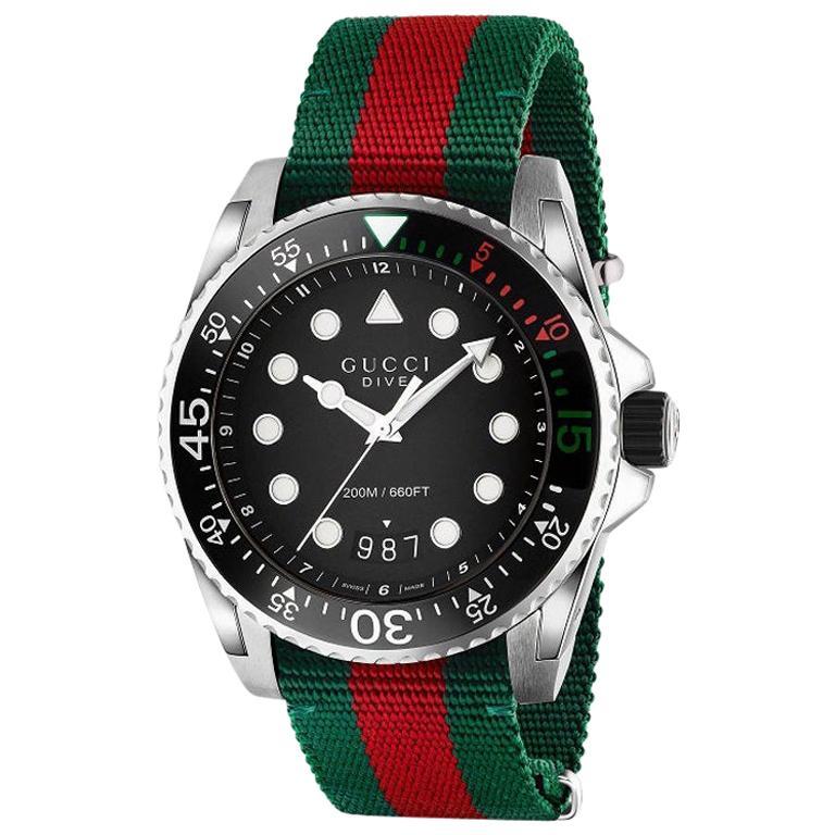 Gucci Dive Black Dial Men's Watch YA136209A