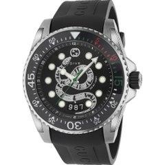 Gucci Dive Quartz Stainless Steel Round Dial Men's Watch YA136217