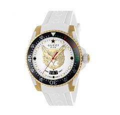 Gucci Dive Quartz Stainless Steel Round Dial Unisex Watch YA136322