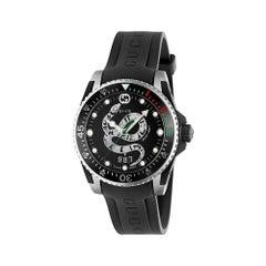 Gucci Dive Quartz Stainless Steel Round Dial Unisex Watch YA136323