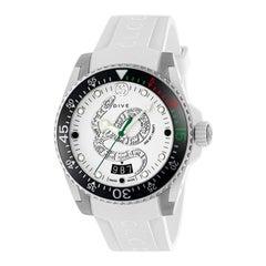 Gucci Dive Snake Motif Dial White Rubber Men's Watch YA136330