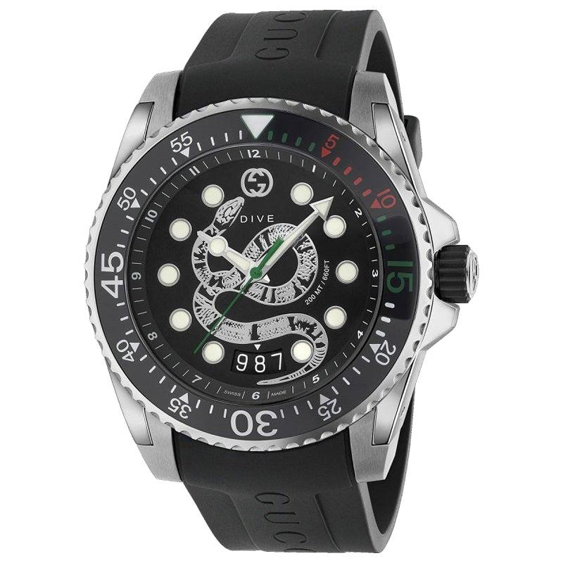 Gucci Dive Stainless Steel Men's Watch YA136217