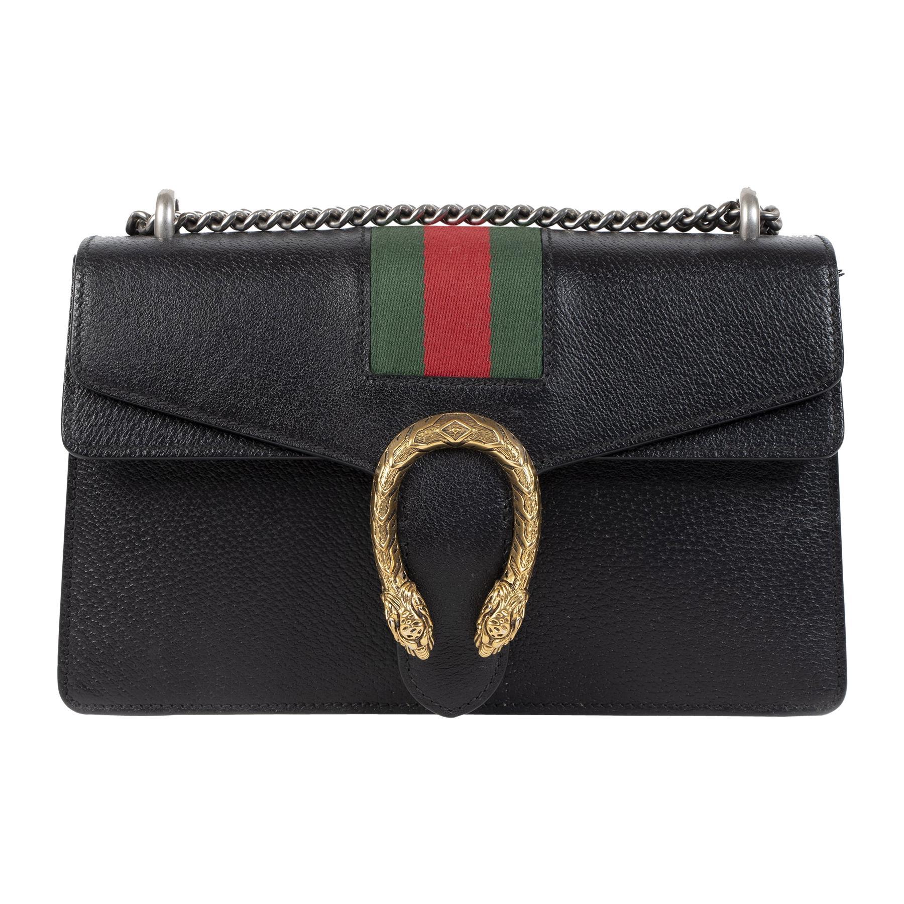 Gucci Diyonisus Web Black Shoulder Bag