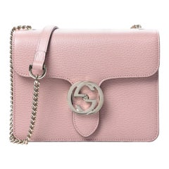 Gucci Dollar Calfskin Interlocking GG Small Shoulder Bag - Soft Pink
