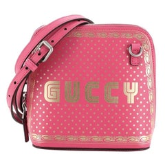Gucci Dome Crossbody Bag Limited Edition Printed Leather Mini