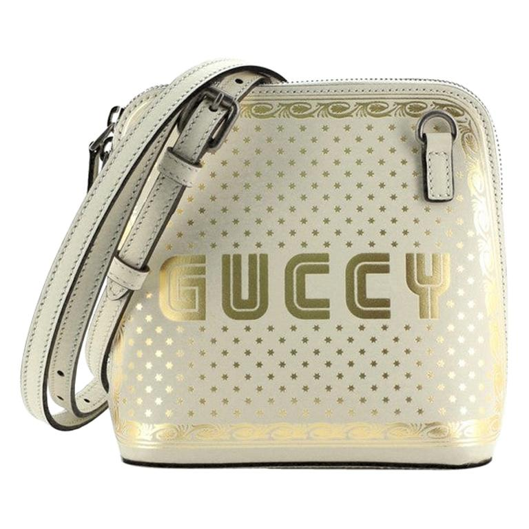 Gucci Dome Crossbody Bag Limited Edition Printed Leather Mini For Sale