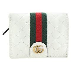 Gucci Double G Flap Card Case Quilted Leather