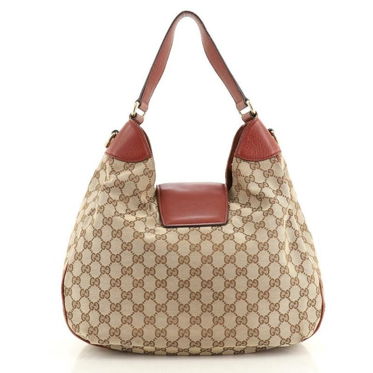 Brown Gucci Dressage Hobo GG Canvas For Sale