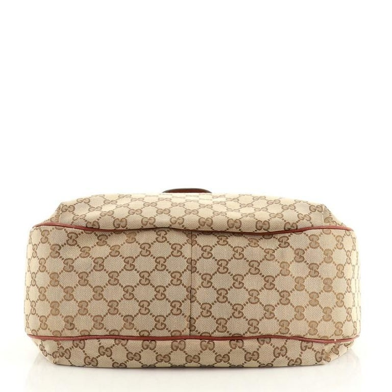 Gucci Dressage Hobo GG Canvas In Good Condition For Sale In New York, NY