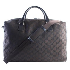 Gucci Duffle Boston Gg 2way 9gr0627 Brown Coated Canvas Weekend/Travel Bag