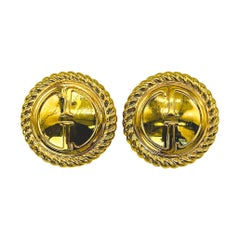 GUCCI Earrings Vintage 1990s Clip On