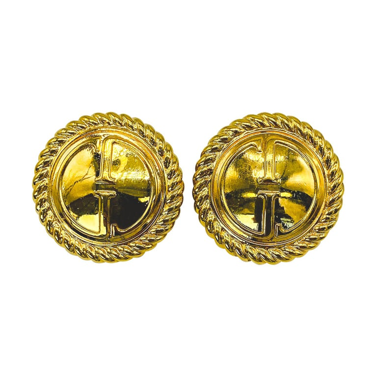GUCCI Earrings Vintage 1990s Clip On  For Sale