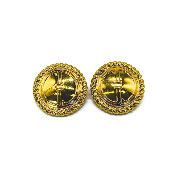 GUCCI Earrings Vintage 1990s Clip On Tom Ford era In Excellent Condition For Sale In London, GB