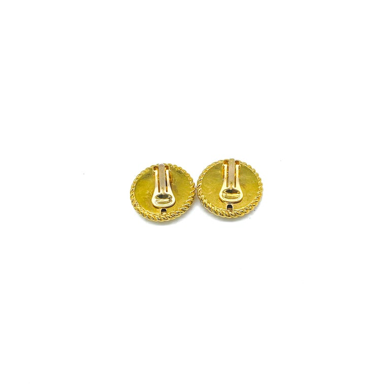 Women's or Men's GUCCI Earrings Vintage 1990s Clip On Tom Ford era For Sale