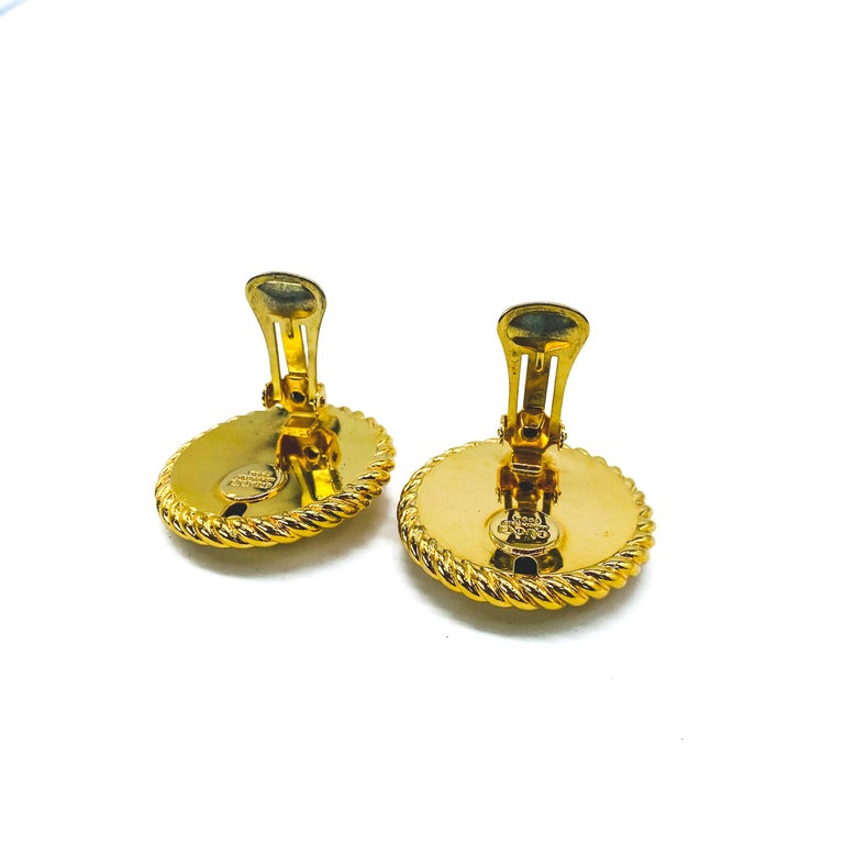 GUCCI Earrings Vintage 1990s Clip On Tom Ford era For Sale 1