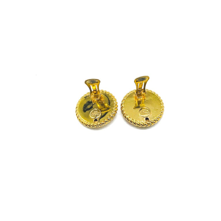 GUCCI Earrings Vintage 1990s Clip On Tom Ford era For Sale 2
