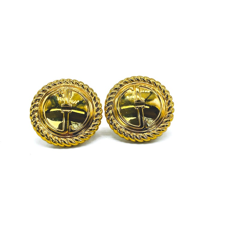 GUCCI Earrings Vintage 1990s Clip On Tom Ford era For Sale 3