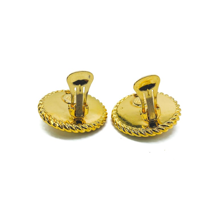 GUCCI Earrings Vintage 1990s Clip On Tom Ford era For Sale 4