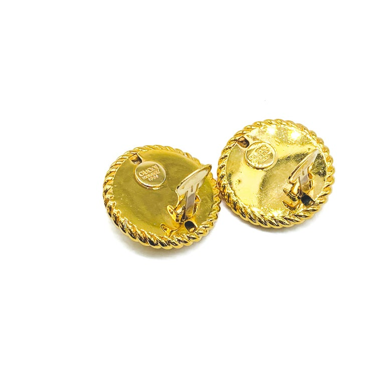 GUCCI Earrings Vintage 1990s Clip On Tom Ford era For Sale 5
