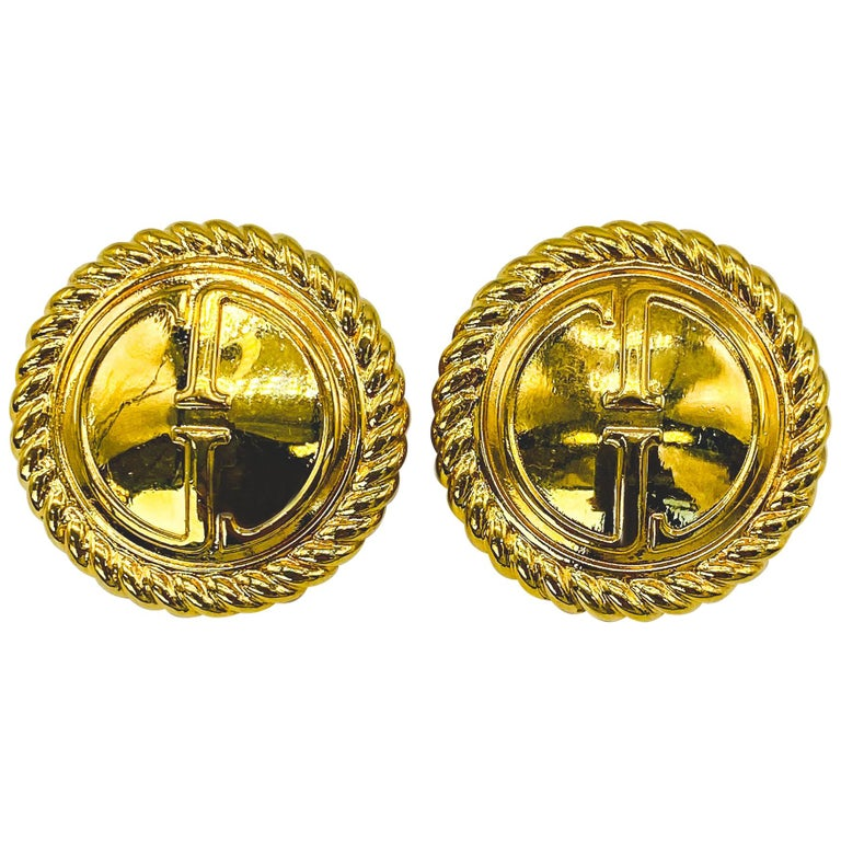 GUCCI Earrings Vintage 1990s Clip On Tom Ford era For Sale