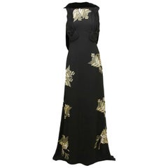 GUCCI Embellished Black Gown