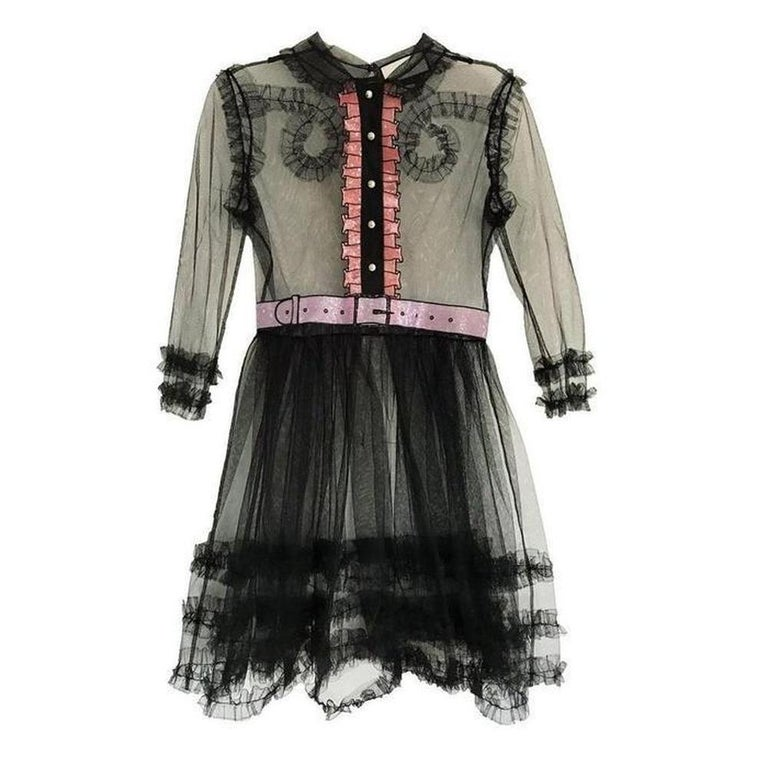 f3e47437d GUCCI Embellished Ruffle Tulle Dress IT40 US 2-4 For Sale at 1stdibs