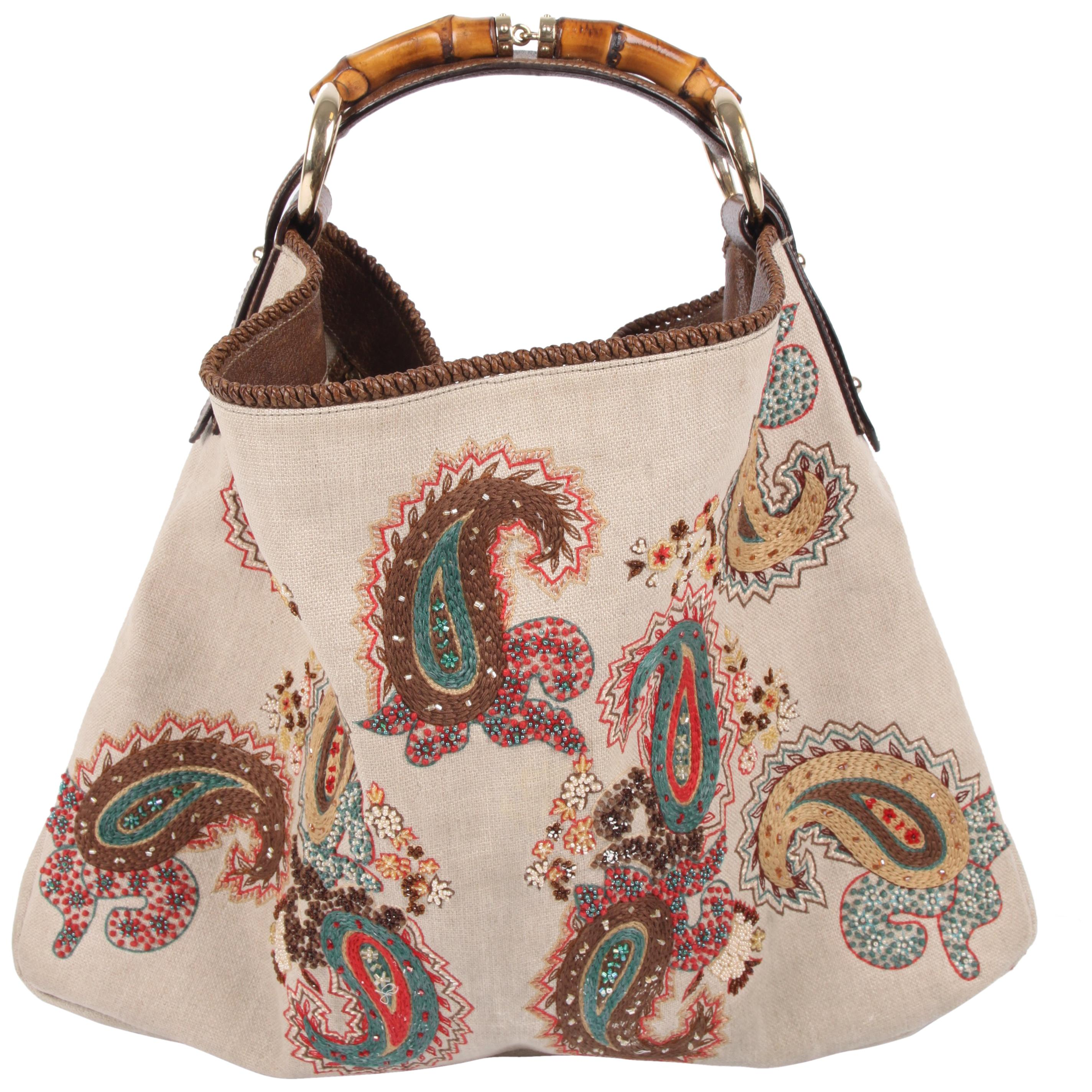 6bcb42cf558 Gucci Pelham Shoulder Bag Ostrich and Crocodile leather - brown at 1stdibs