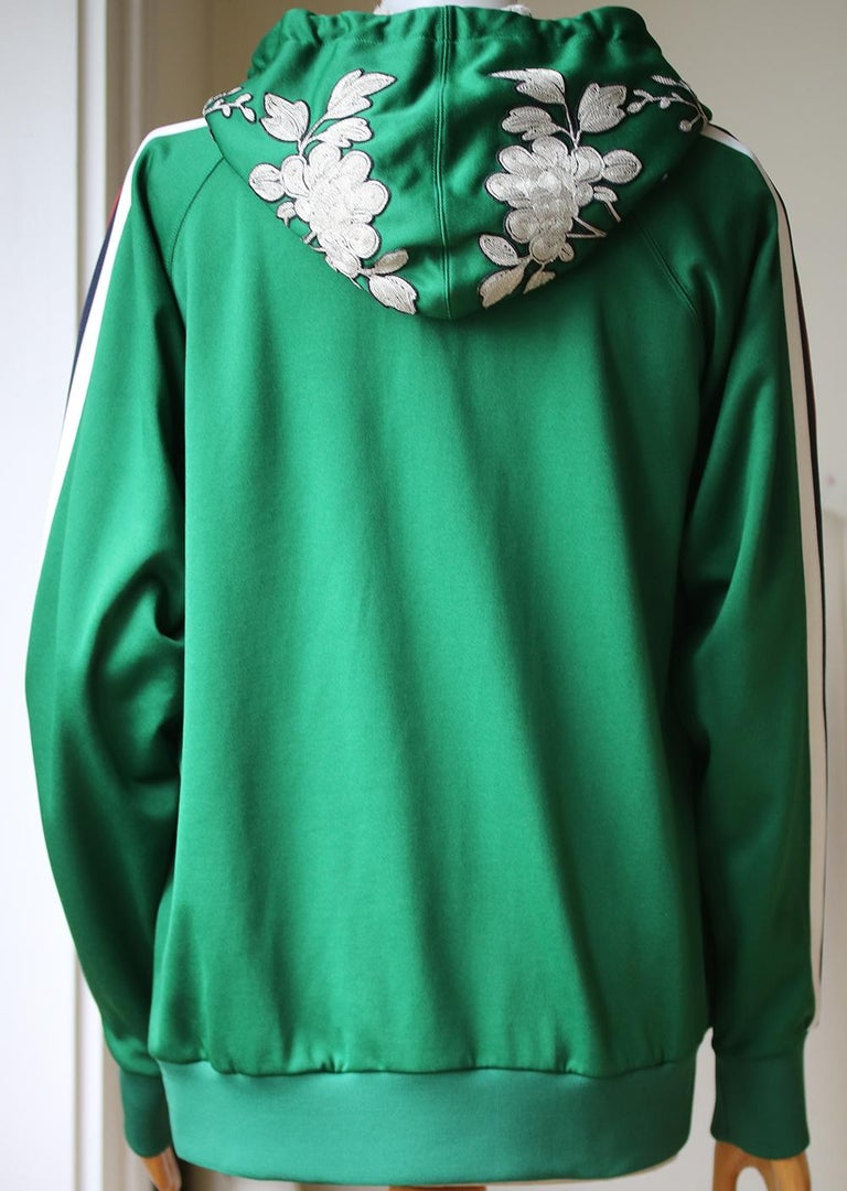 Gucci Embroidered Jersey Sweatshirt In Excellent Condition In London, GB