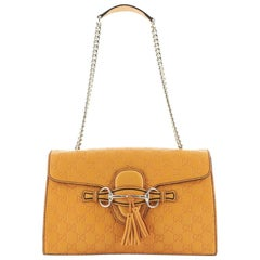 Gucci Emily Chain Flap Bag Guccissima Leather Medium