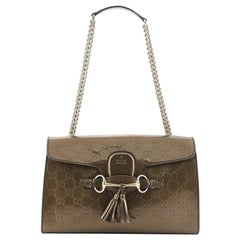 Gucci Emily Chain Flap Bag Guccissima Patent Medium