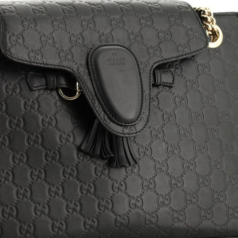 Gucci Emily Chain Flap Shoulder Bag Guccissima Leather Large 2