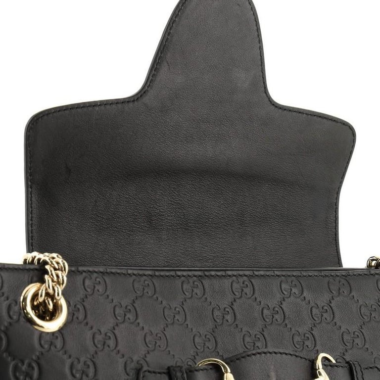 Gucci Emily Chain Flap Shoulder Bag Guccissima Leather Large 3