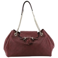 Gucci Emily Flap Shoulder Bag Guccissima Leather Large