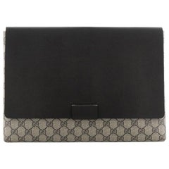Gucci Envelope Clutch GG Canvas and Leather Large