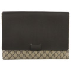 d07150ca8dc Gucci Envelope Clutch GG Canvas and Leather Large