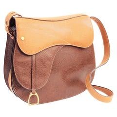 Gucci Equestrian Pigskin Leather Stirrup Charm Vintage Saddle Bag, 1980s