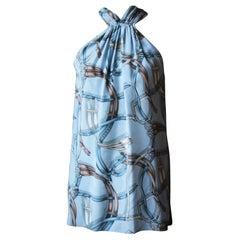 Gucci Equestrian-Print Silk Top