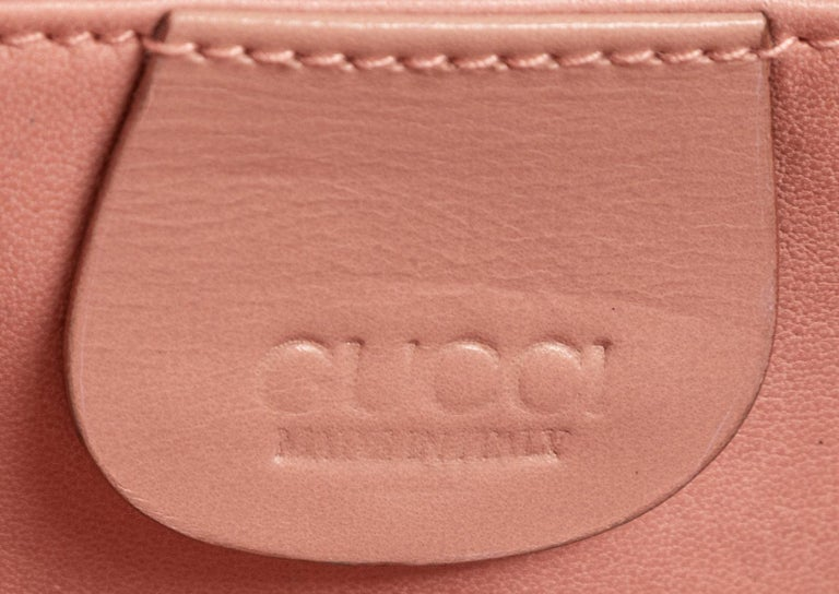 Women's or Men's Gucci Exotic Lizard Blush Top Handle Kelly Style Shoulder Bag For Sale