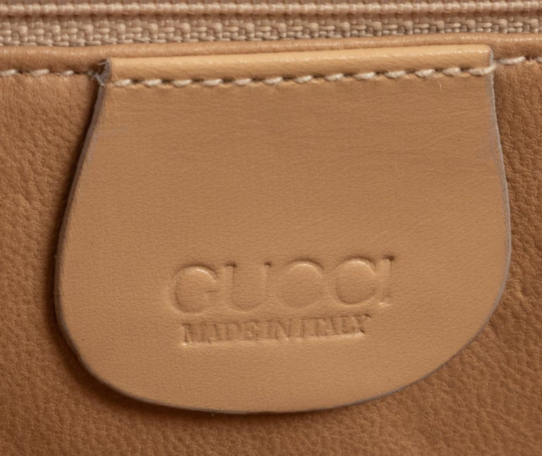 Women's or Men's Gucci Exotic Lizard Taupe Top Handle Kelly Style Shoulder Bag For Sale