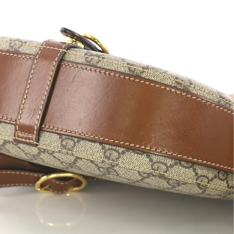 Gucci Flap Saddle Bag GG Coated Canvas Small 2