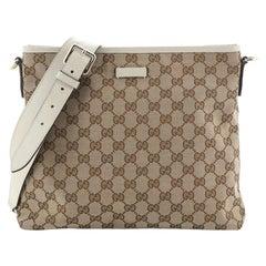 Gucci Flat Messenger Bag GG Canvas Medium