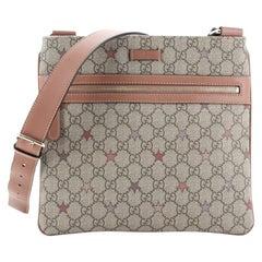 Gucci Flat Messenger Bag GG Coated Canvas Medium