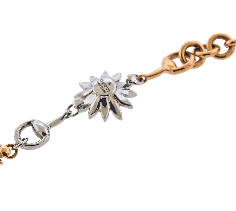 Gucci Flora Gold Diamond Necklace Limited Edition For Sale 2
