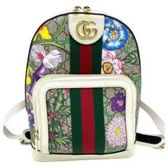 Gucci Flora Print Monogram Backpack