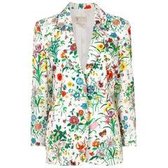 Gucci Flora Printed Cotton Blazer Jacket