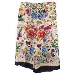 Gucci Floral Foulard on Twill Pants - Small (517265)