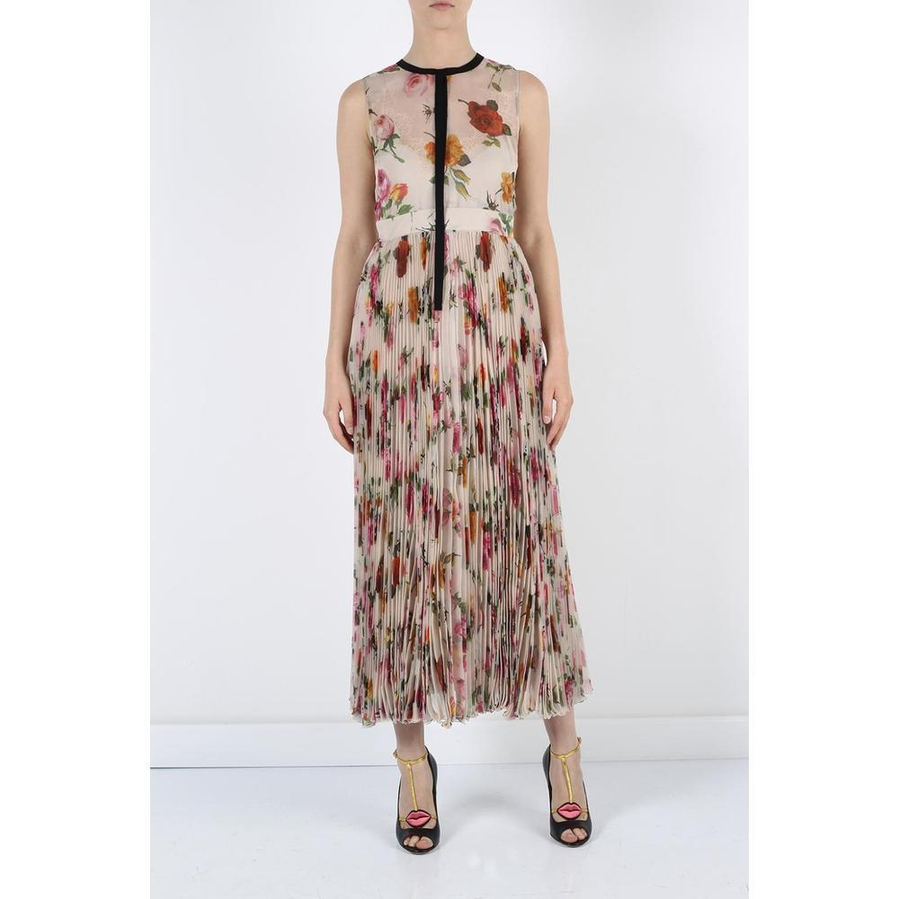 38ba97dad GUCCI Floral Patterned Pleated Gown IT44 US 8-10 For Sale at 1stdibs