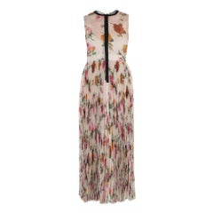 GUCCI Floral Patterned Pleated Gown IT44 US 8-10