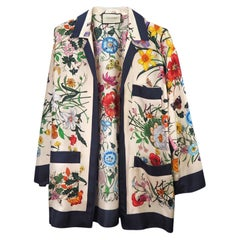 Gucci Floral Print Silk Foulard Shirt - Small (516577)